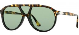 Lunettes de soleil - Persol - PO3217S - 108852 TORTOISE BROWN BLACK // LIGHT GREEN