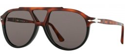 Sunglasses - Persol - PO3217S - 1089R5 BROWN BLACK TORTOISE // DARK GREY