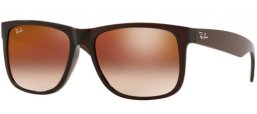 Sunglasses - Ray-Ban® - Ray-Ban® RB4165 JUSTIN - 714/S0 BROWN // BROWN GRADIENT MIRROR RED