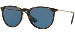 Sunglasses - Ray-Ban® - Ray-Ban® RB4171 ERIKA - 639080 HAVANA // DARK BLUE
