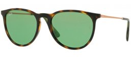 Sunglasses - Ray-Ban® - Ray-Ban® RB4171 ERIKA - 6393/2 LIGHT HAVANA // GREEN