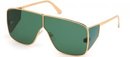 Sunglasses - Tom Ford - SPECTOR FT0708 - 33N  SHINY GOLD // GREEN