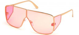 Sunglasses - Tom Ford - SPECTOR FT0708 - 33Y  SHINY GOLD // PINK
