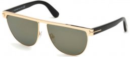 Sunglasses - Tom Ford - STEPHANIE-02 FT0570 - 28C SHINY ROSE GOLD // GREY MIRROR