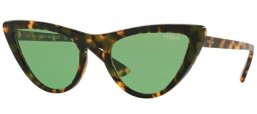 Gafas de Sol - Vogue - VO5211S BY GIGI HADID - 2073/2 TORTOISE BROWN // DARK GREEN