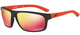 Sunglasses - Arnette - AN4225 BURNOUT - 23766Q FUZZY BLACK // RED MULTILAYER