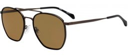 Lunettes de soleil - BOSS Hugo Boss - BOSS 1090/S - SVK (70) STEEL METAL RUTHENIUM BLACK // BROWN