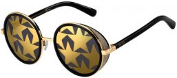 Sunglasses - Jimmy Choo - ANDIE/N/S - 2M2 (7Y) BLACK GOLD // GOLD DECORED