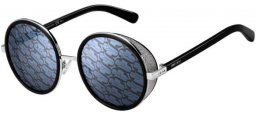 Sunglasses - Jimmy Choo - ANDIE/N/S - BSC (MD) BLACK SILVER // GREY MIRROR SILVER DECORED