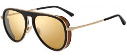 Sunglasses - Jimmy Choo - CARL/S - R60 (T4) BLACK BROWN // GOLD MIRROR