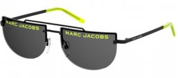 Sunglasses - Marc Jacobs - MARC 404/S - ALZ (IR) BLACK YELLOW FLUO // GREY
