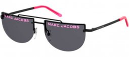 Sunglasses - Marc Jacobs - MARC 404/S - SQP (IR) BLACK FLUO PINK // GREY