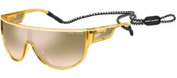 Sunglasses - Marc Jacobs - MARC 410/S - FWM (G4) CRYSTAL YELLOW // BROWN GRADIENT SILVER MIRROR