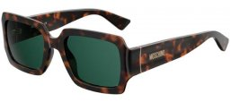 Sunglasses - Moschino - MOS063/S - 086 (QT) DARK HAVANA // GREEN