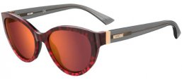 Sunglasses - Moschino - MOS065/S - 3VJ (UW) RED ANIMAL // ORANGE MIRROR