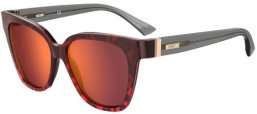 Sunglasses - Moschino - MOS066/S - 3VJ (UW) RED ANIMAL // ORANGE MIRROR