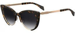 Sunglasses - Moschino - MOS040/S - 086 (9O) DARK HAVANA // DARK GREY GRADIENT