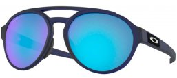Sunglasses - Oakley - FORAGER OO9421 - 9421-06 MATTE TRANSLUCENT BLUE // PRIZM SAPPHIRE POLARIZED