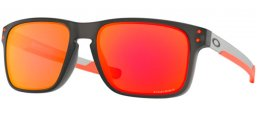 Sunglasses - Oakley - HOLBROOK MIX OO9384 - 9384-15 MATTE GREY SMOKE // PRIZM RUBY