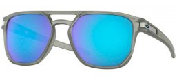 Sunglasses - Oakley - LATCH BETA OO9436 - 9436-06 MATTE GREY INK // PRIZM SAPPHIRE POLARIZED
