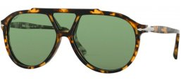 Sunglasses - Persol - PO3217S - 1056P1 TORTOISE BROWN BEIGE // GREEN POLARIZED