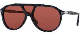 Sunglasses - Persol - PO3217S - 1099AL SPOTTED BLUE // WINE POLARIZED