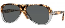 Sunglasses - Persol - PO3260S - 1130B1 BROWN TORTOISE & SMOKE // DARK GREY