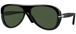 Sunglasses - Persol - PO3260S - 95/31 BLACK // GREEN