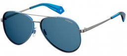 Sunglasses - Polaroid - PLD 6069/S/X - V84 (C3) RUTHENIUM BLUE // GREY POLARIZED