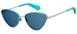 Sunglasses - Polaroid - PLD 6071/S/X - XJY (C3) AZURE PALLADIUM // GREY POLARIZED
