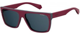 Sunglasses - Polaroid Premium - PLD 6086/S/X - FSF (C3) BURGUNDY GREY // GREY POLARIZED