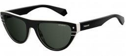 Sunglasses - Polaroid Premium - PLD 6087/S/X - 9HT (M9) BLACK IVORY // GREY POLARIZED