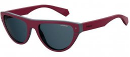 Sunglasses - Polaroid Premium - PLD 6087/S/X - FSF (C3) BURGUNDY GREY // GREY POLARIZED