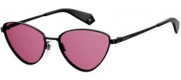 Sunglasses - Polaroid - PLD 6071/S/X - 807 (0F) BLACK // PINK POLARIZED