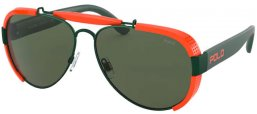 Sunglasses - POLO Ralph Lauren - PH3129 - 940471 MATTE GOLLEGE GREEN // GREEN