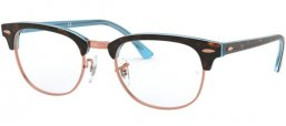 Frames - Ray-Ban® - RX5154 CLUBMASTER - 5885 TOP HAVANA ON LIGHT BLUE