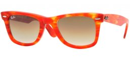 Sunglasses - Ray-Ban® - Ray-Ban® RB2140 ORIGINAL WAYFARER - 104351 RULE ORANGE // BROWN GRADIENT