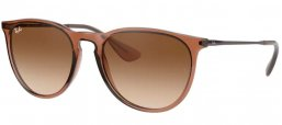 Sunglasses - Ray-Ban® - Ray-Ban® RB4171 ERIKA - 651413 TRANSPARENT LIGHT BROWN // BROWN GRADIENT DARK BROWN
