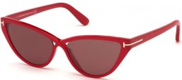 Sunglasses - Tom Ford - CHARLIE-02 FT0740 - 75Y  SHINY RED // BURGUNDY