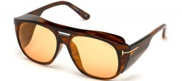 Sunglasses - Tom Ford - FENDER FT0799 - 50E  DARK HAVANA // ORANGE