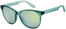 Sunglasses - Carrera - CARRERA 5001 - 8UG (3U) GREY TURQUOISE METALLIZED // KAKI MIRROR BLUE