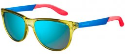 Sunglasses - Carrera - CARRERA 5015/S - 8RB (3U) YELLOW BLUE // KHAKI MIRROR BLUE