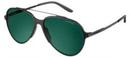 Sunglasses - Carrera - CARRERA 118/S - GUY (D5) BLACK SHINY MATTE // GREEN