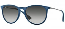 Sunglasses - Ray-Ban® - Ray-Ban® RB4171 ERIKA - 60028G RUBBER BLUE // GREY GRADIENT