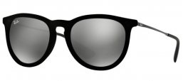 Sunglasses - Ray-Ban® - Ray-Ban® RB4171 ERIKA - 60756G VELVET BLACK //  GREY MIRROR SILVER