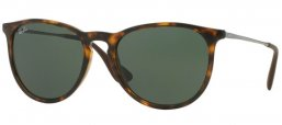 Sunglasses - Ray-Ban® - Ray-Ban® RB4171 ERIKA - 710/71 LIGHT HAVANA // GREEN