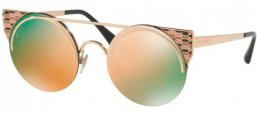 Gafas de Sol - Bvlgari - BV6088 SERPENTEYES - 20144Z PINK GOLD // GREY MIRROR ROSE GOLD