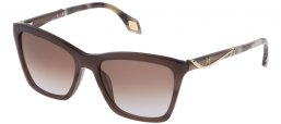 Sunglasses - Carolina Herrera New York - SHN559M - 0WTN SHINY STRIPED BROWN // BROWN GRADIENT VIOLET