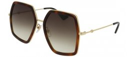 Sunglasses - Gucci - GG0106S - 002 HAVANA GOLD // BROWN GRADIENT