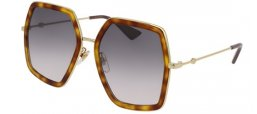 Sunglasses - Gucci - GG0106S - 003 LIGHT HAVANA GOLD // GREY GRADIENT